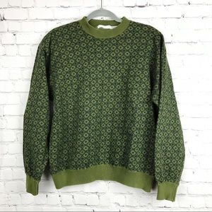 Vintage Claiborne Mens Green Sweater Medium